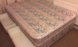 "Hi, for sale a 4ft6"" double divan bed and mattress with"