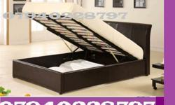 Double storage leather bed frame only £105 leather bed