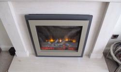 DRU remote control electric fire in excellent condition
