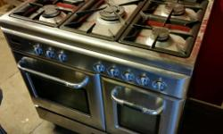 Stainless Steel Dual Fuel Commercial Range Cooker. This