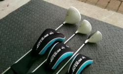 For sale are 3 Dunlop Tour Elite clubs Driver, 3 Wood