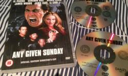 "I am selling a used copy of the DVD ""Any Given Sunday"""