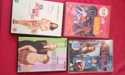 3 DVDs and 1 workout DVD Just my luck 13 going on 30