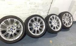 Set of genuine staggered BMW alloys Need new tyres on