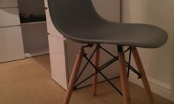 Brand new Eames DSW style replica chair in grey. In