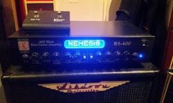 Here we have a pedigree Eden Nemesis RS400 bass amp