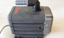 Eheim 1060 submersible water pump-240 volt. Flow rate