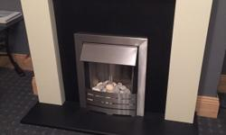 Electric fire and surround. Immaculate condition hardly