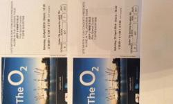 Originally Purchased as four tickets at the 02 Arena,