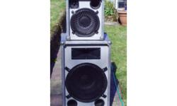 "PAIR ELECTROVOICE 15"" PA SPEAKERS IN STRONG"