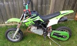 Excellent 50cc mini moto for boy or girl,bike is great