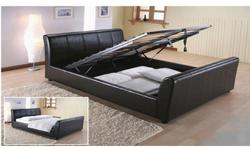 FAUX LEATHER STORAGE BED BRAND NEW £200 YOU CAN CALL