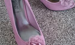 For Sale New Look - Pink fabric Open Toe Shoes with