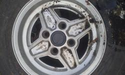 "Ford 13"" set of 5 good condition for age tyres are no"