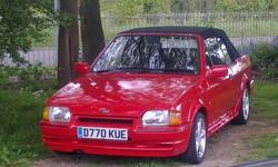 FORD ESCORT XR3 i CABRIOLET. RED WITH BLACK MOHAIR