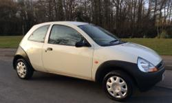 Ford KA 1.3. White. 2001 (51 plate). Only 48,000 miles.