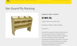 For Sale New Unused Van Guard Ply racking ( see size on
