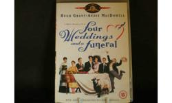 FOUR WEDDINGS AND A FUNERAL DVD. HUGH GRANT £1 cash on