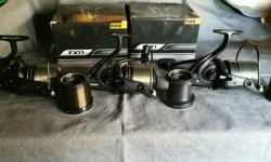 Fox fx 11 reels x 3 are in mint condition with spare