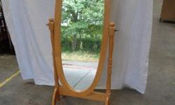 Beech Cheval Free standing dressing mirror nice for