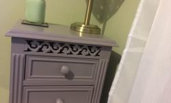 Two matching beautiful bedside tables with carved