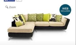 Beautiful large corner sofa for sale. Scatter back so