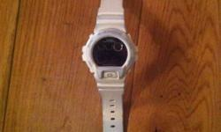 White g-shock watch bought two years ago moderate wear