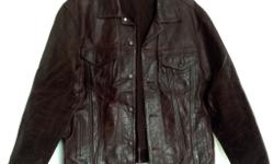 Gap genuine leather, brown jean style jacket size