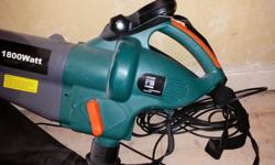 Power base 1800 watt garden vacuum & leaf blower. In