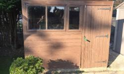 Wooden garden shed 8 feet x 6 feet, with front door and