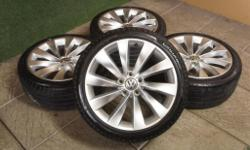 "Genuine VW Interlagos 18"" Alloy Wheels & Tyres Specs:"