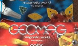 Five great sets of geomag toys. These are magnetic