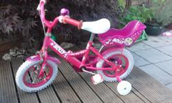 Girls first bike. By raleigh. Pink 'molly' design. With