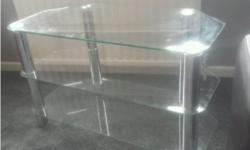 Lovely modern glass TV stand. £20 Measures around 80cm