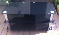 TV and DVD unit. Dark glass - see pictures Pick up