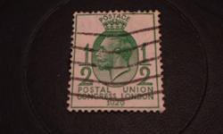 Cancelled watermark, stamp is in very good condition.