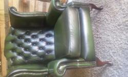 A beautiful Chesterfield Wingback leather chair.
