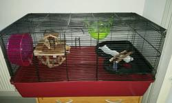 Large hamster cage for sale. Just under 1 metre long