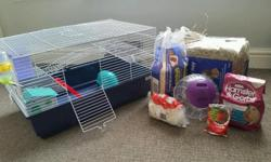 Good condition large hamster cage, sold with all the