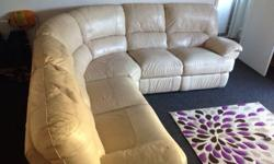 This is a high quality leather sofa, has 2 reclining