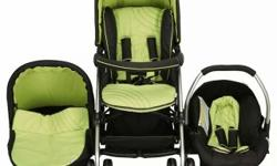 3in1 hauck black an green pram...good condition only