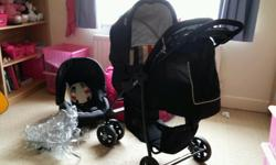 Travel system. This comes with car seat and pram. Nice