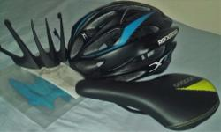 Helmet size L and saddle, both brand new. Both: 25£,
