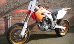 honda crf 450 supermoto, 2002 road registered, 11