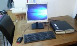 HP dc7700 desktop computer in good condition and full
