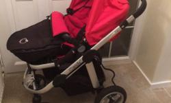 I candy apple pushchair with footmuff. Carry cot with