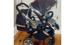 iCandy Peach Blossom Black jack Double Seat Stroller +