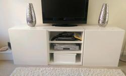 Ikea modular tv unit part of the besta range. White