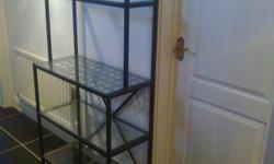 2 (two) IKEA glass shelving units in excellent