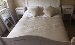 Local collection only! Beautiful white wooden bedroom
